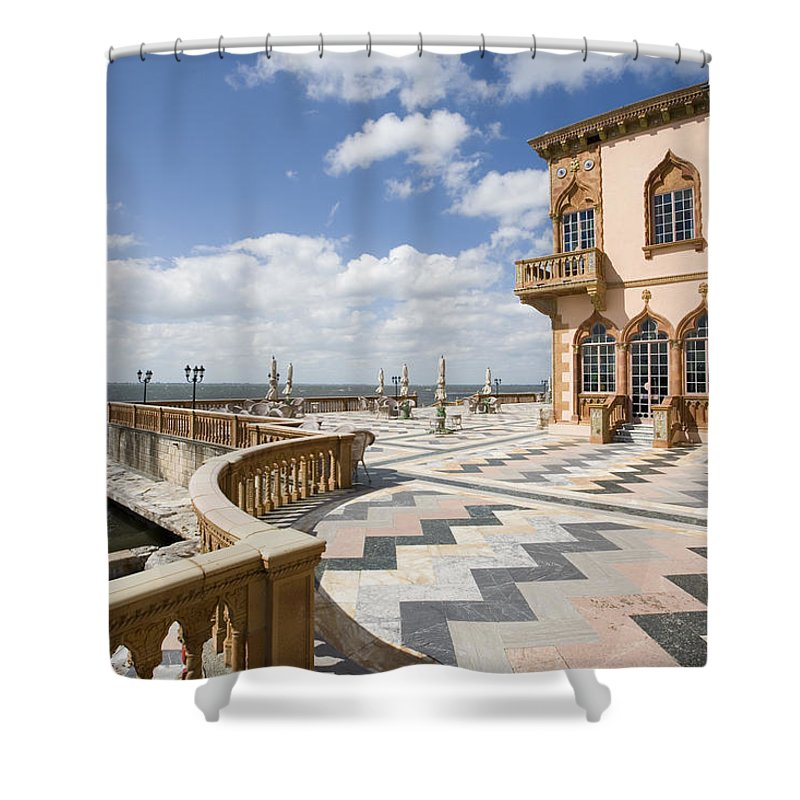 Ringling Shower Curtain featuring the photograph Ca D'zan Mansion Sarasota by Mal Bray