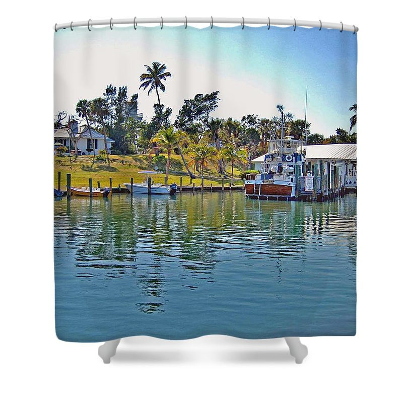 Water Shower Curtain featuring the photograph Cabbage Key by Michael Thomas