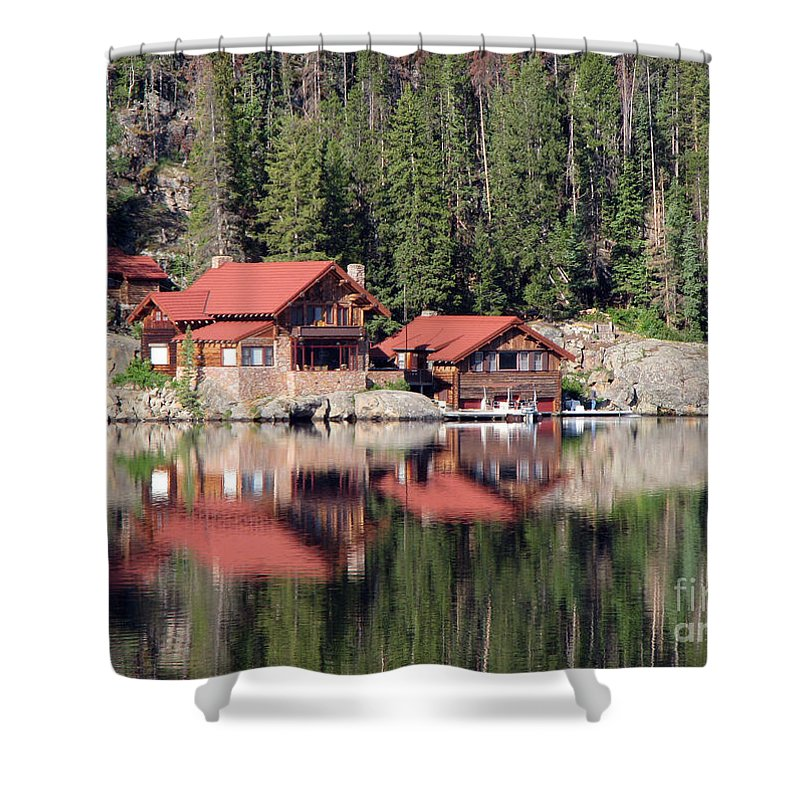 Cabin Shower Curtain featuring the photograph Cabin by Amanda Barcon