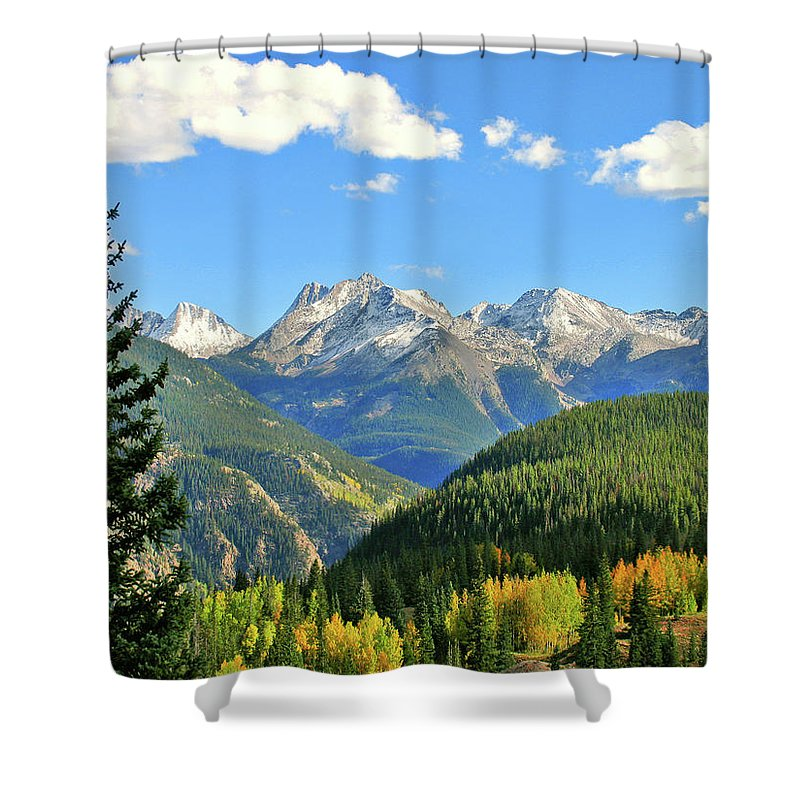Cabin Shower Curtain featuring the photograph Cabin In The San Juans by Scott Mahon