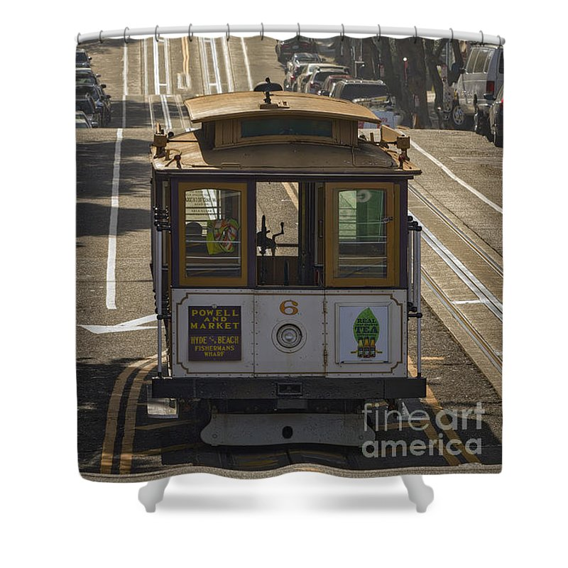 Cable Car Number 6 Shower Curtain featuring the photograph Cable Car Number 6 by Mitch Shindelbower