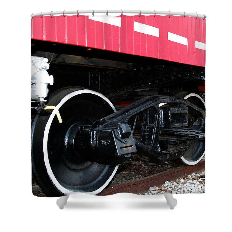 Caboose Shower Curtain featuring the photograph Caboose by Bob Johnson