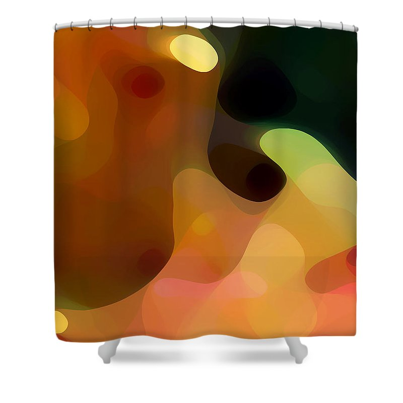Bold Shower Curtain featuring the painting Cactus Fruit by Amy Vangsgard