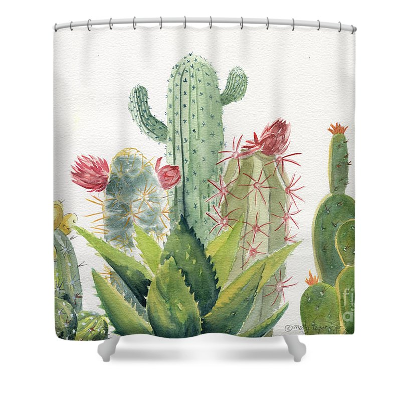Cactus Watercolor Shower Curtain For Sale By Melly Terpening