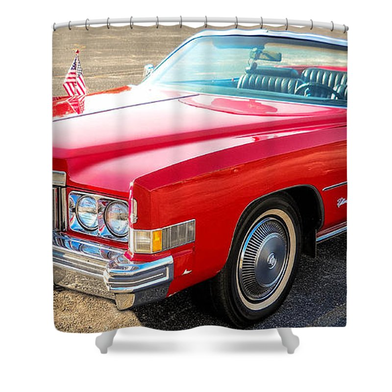 1977 Cadillac Shower Curtain featuring the photograph Caddy by Tom Zukauskas