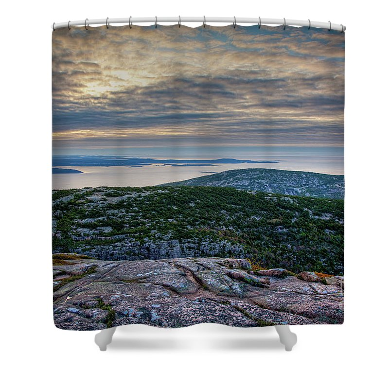 Acadia National Park Shower Curtain featuring the photograph Cadillac Sky by Susan Cole Kelly