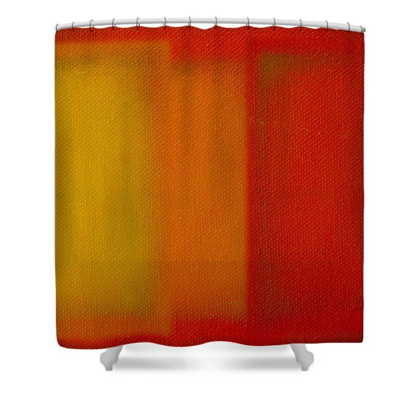 Rothko Shower Curtain featuring the painting Cadmium Lemon by Charles Stuart