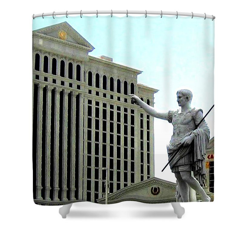 Caesars Palace Shower Curtain featuring the photograph Caesars Palace by Will Borden