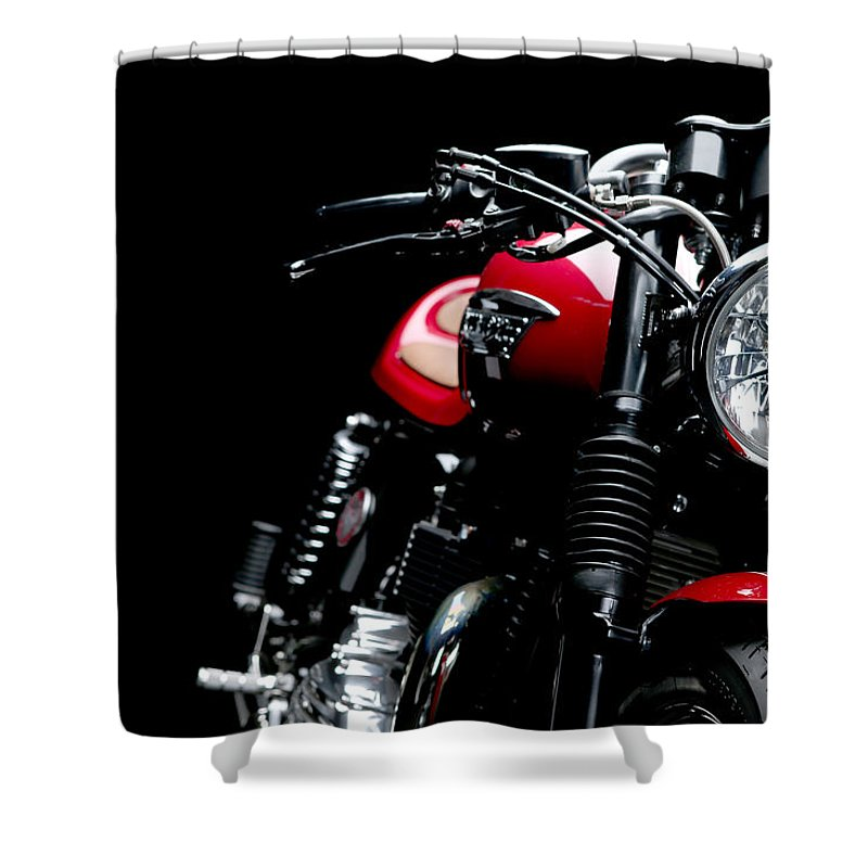 Tonup Shower Curtain featuring the photograph Cafe Racer by Keith May