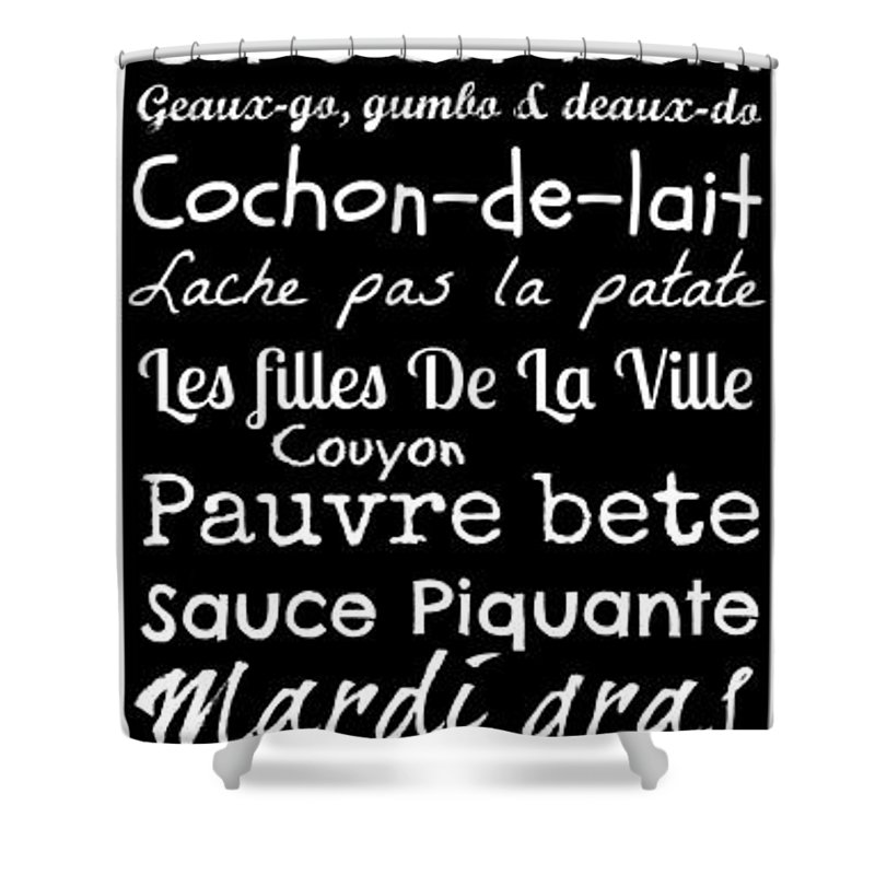 French phrases shower curtains fine art america french phrases shower curtains m4hsunfo