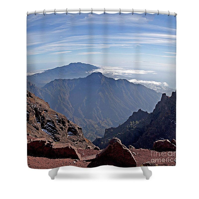 La Palma Shower Curtain featuring the photograph Caldera De Taburiente-1 by Casper Cammeraat