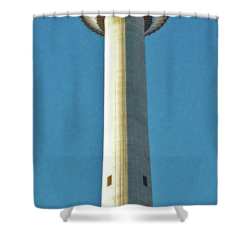North America Shower Curtain featuring the photograph Calgary Tower by Juergen Weiss