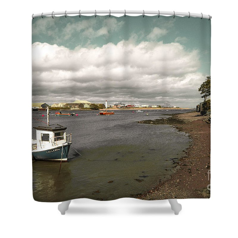 Ferryden Shower Curtain featuring the photograph Callerou by Rob Hawkins