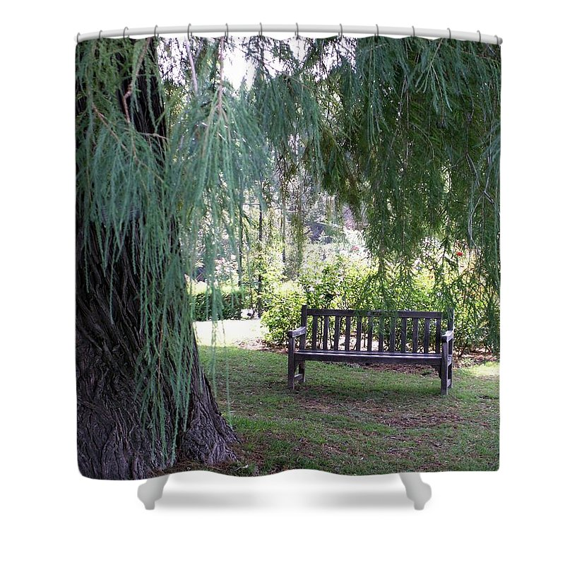 Landscape Shower Curtain featuring the photograph Calm by Amy Fose