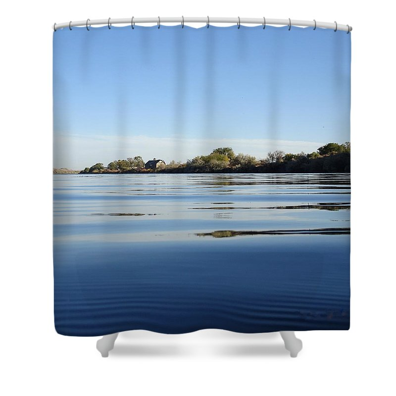 Idaho Shower Curtain featuring the photograph Calm And Tranquil Waters by Dan Dixon