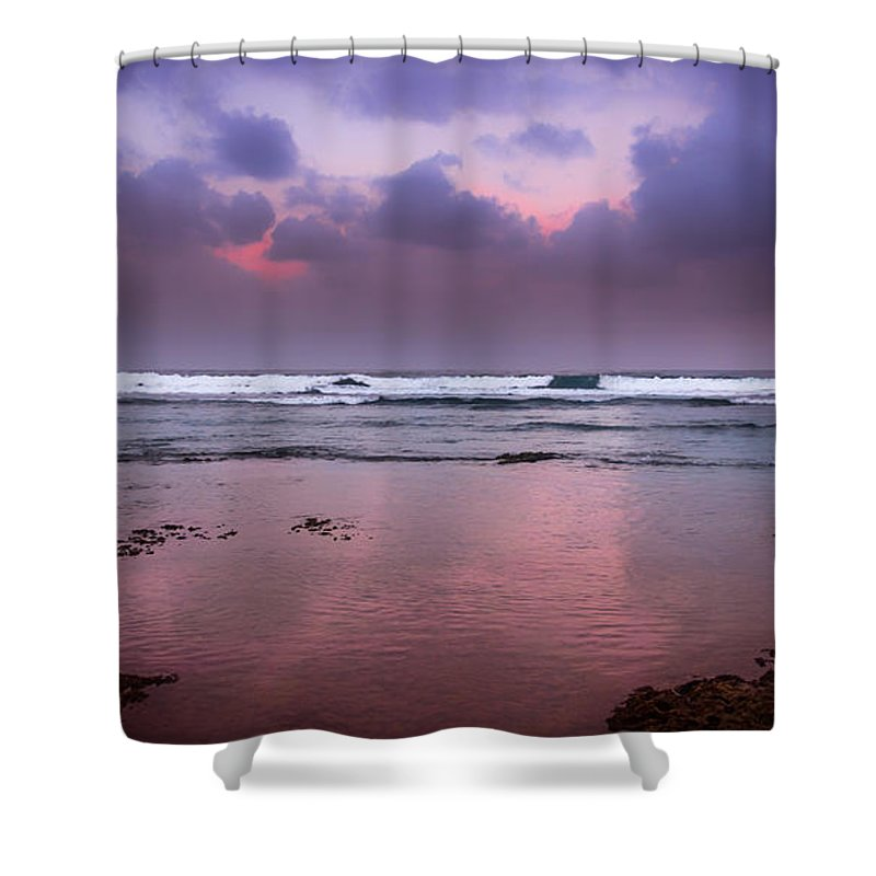 Caribbean Shower Curtain featuring the photograph Calm Evening Shore by Artist Jacquemo