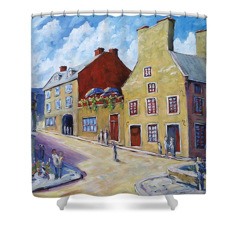 Rural Shower Curtain featuring the painting Calvet House Old Montreal by Richard T Pranke