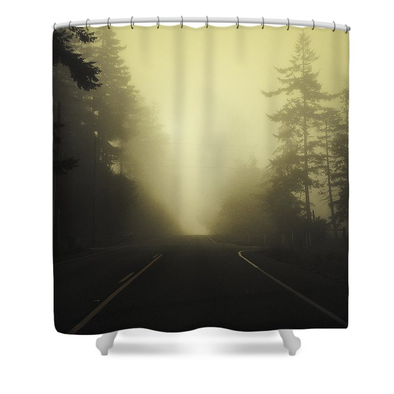 Fog Shower Curtain featuring the photograph Camano Island Fog by Tim Nyberg