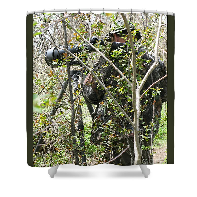 Photographer Shower Curtain featuring the photograph Camouflage by Ann Horn
