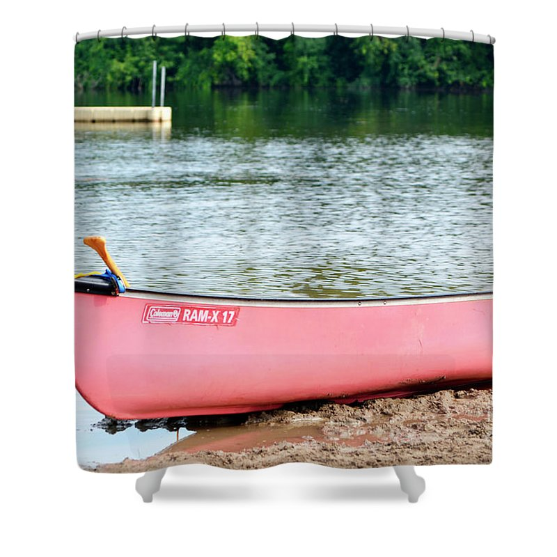 Beach Shower Curtain featuring the photograph Can You Canoe by Traci Cottingham