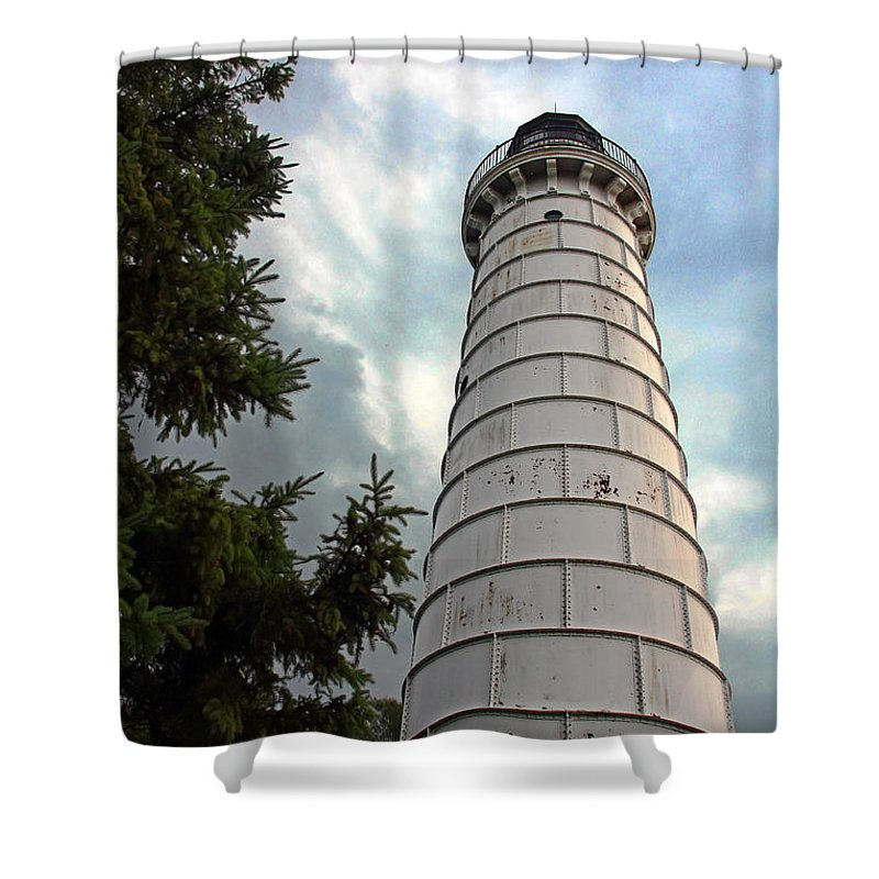 Cana Island Shower Curtain featuring the photograph Cana Island Lighthouse by Joanne Coyle