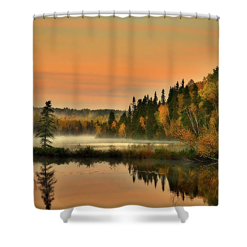 Canada Shower Curtain featuring the photograph Canadian Autumn Sunrise by Pixabay