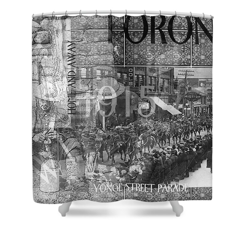 Wwi.collage Shower Curtain featuring the photograph Canadian Wwi Nostalgic Collage by Ruth Palmer