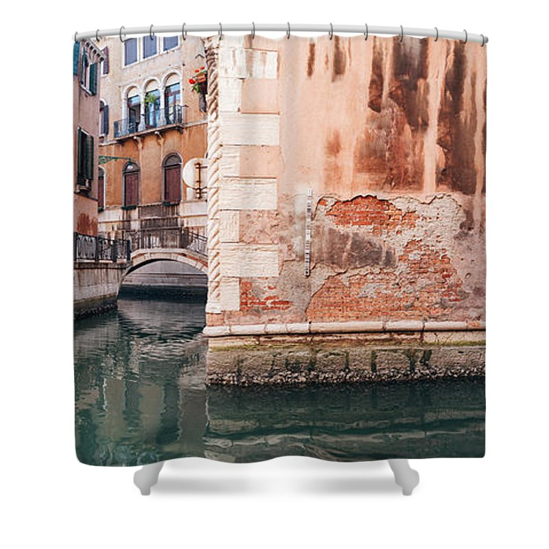 Venice Shower Curtain featuring the photograph Canal In Venice, Italy by Ivan Bastien