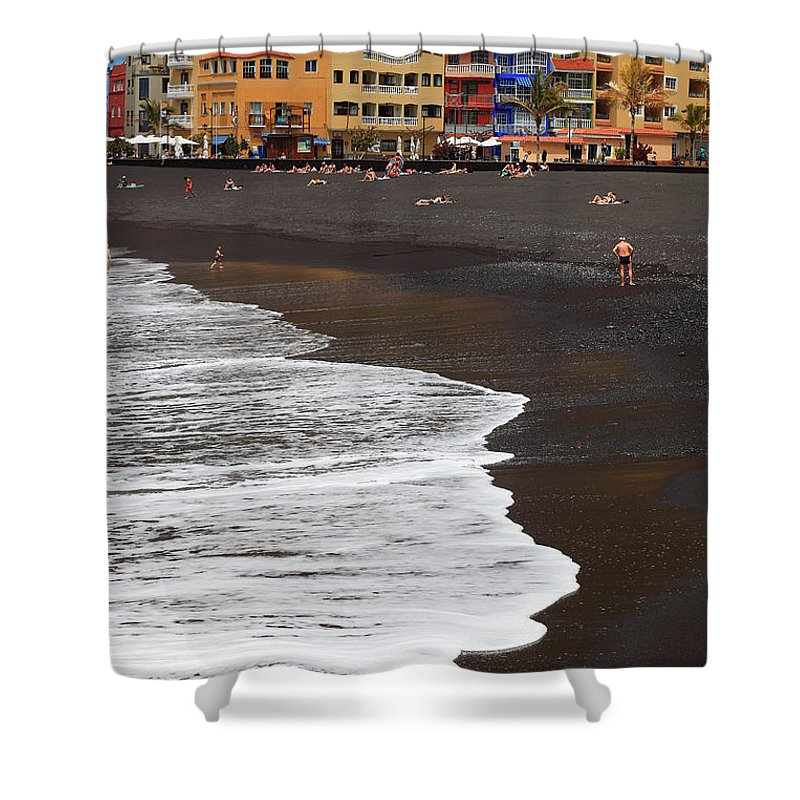 Palma Shower Curtain featuring the photograph Canary Island, Tazacorte Village by Heinz Tschanz-Hofmann