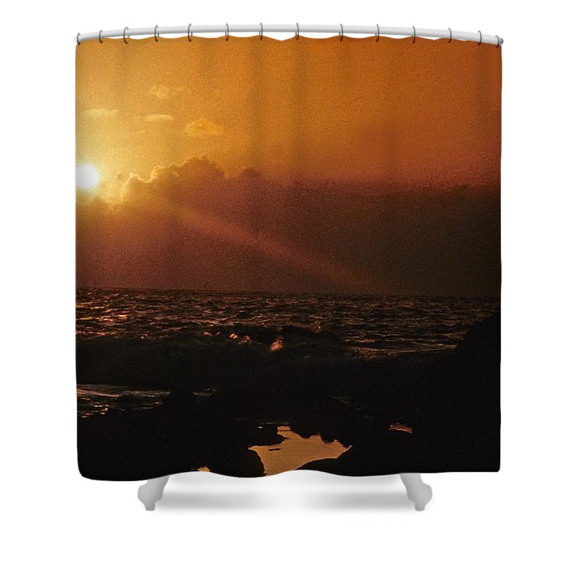 Sunset Shower Curtain featuring the photograph Canary Islands Sunset by Gary Wonning