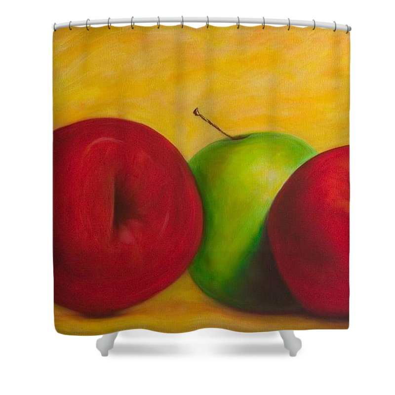Still Life Shower Curtain featuring the painting Cancan by Shannon Grissom