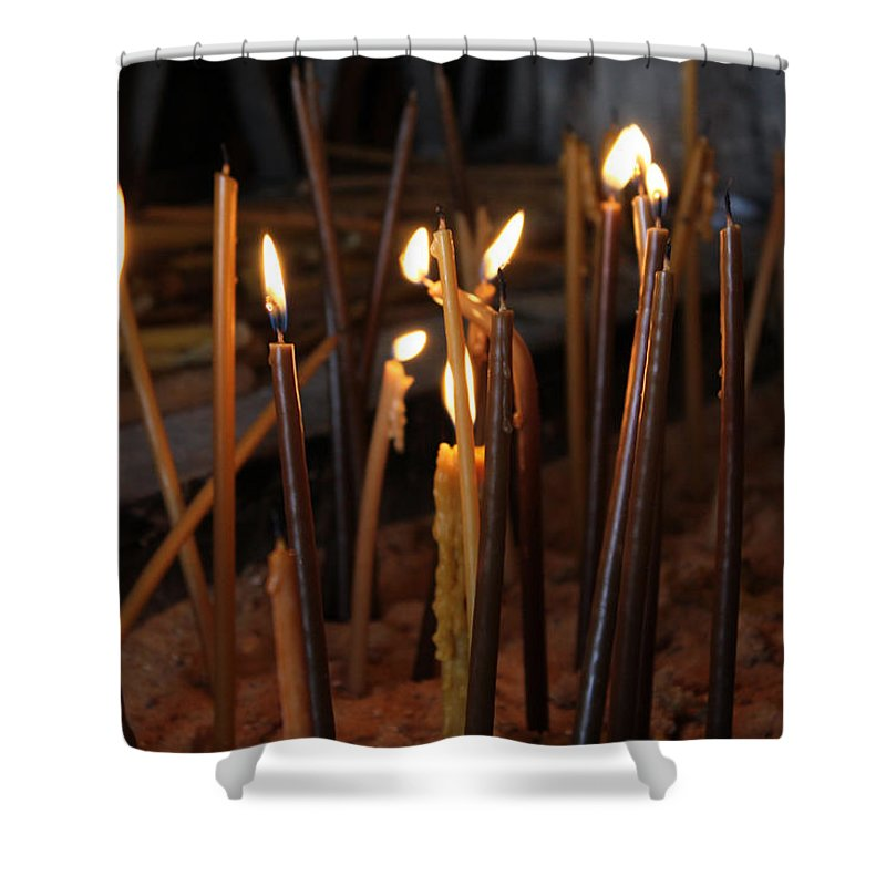 Candle Shower Curtain featuring the photograph Candles by Munir Alawi
