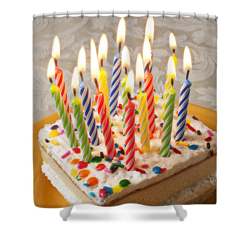 Candles On Birthday Cake Shower Curtain For Sale By Garry Gay