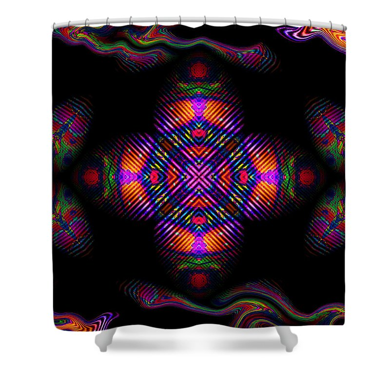Colorful Shower Curtain featuring the digital art Candy Art by Robert Orinski