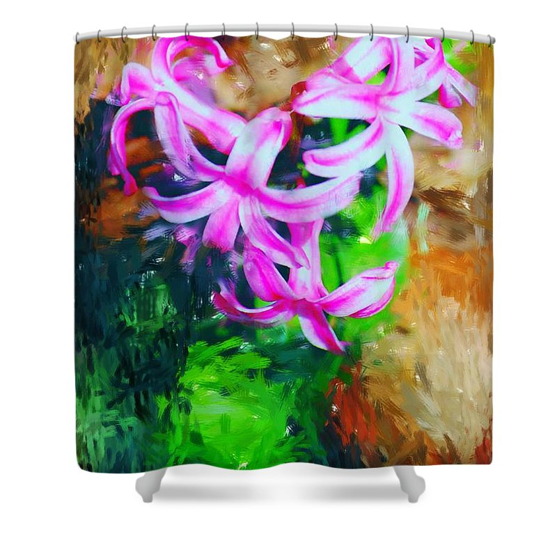 Shower Curtain featuring the photograph Candy Striped Hyacinth by David Lane