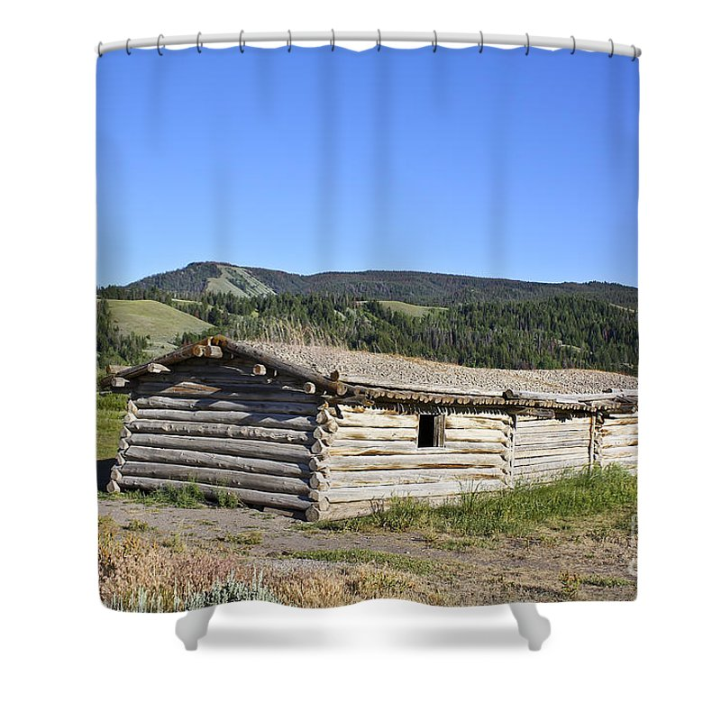 Cabin Shower Curtain featuring the photograph Canningham Cabin Grand Tetons National Park by Teresa Zieba