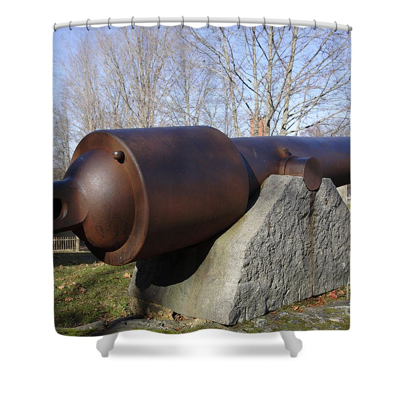 American Shower Curtain featuring the photograph Cannon - York Maine Usa by Erin Paul Donovan