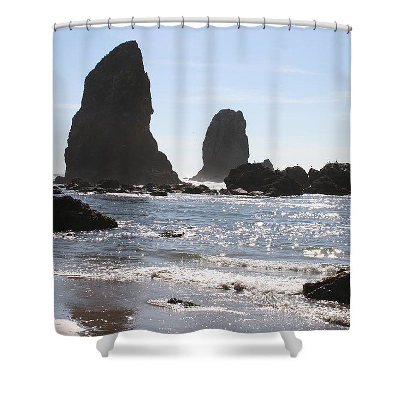 Sea Shower Curtain featuring the photograph Cannon Beach II by Quin Sweetman