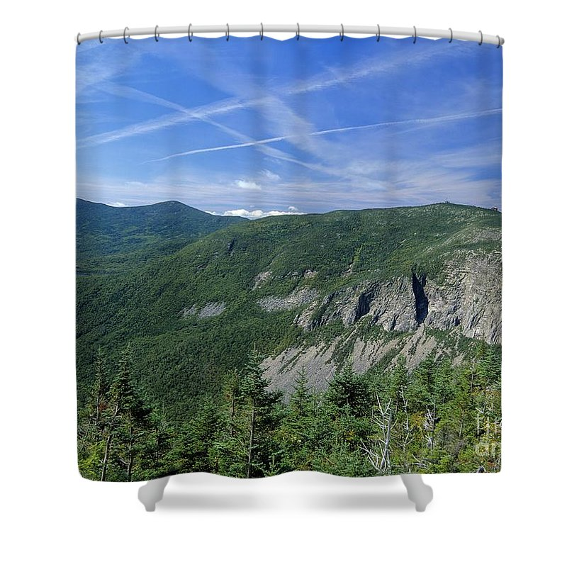 Cirrus Clouds Shower Curtain featuring the photograph Cannon Mountain - White Mountains New Hampshire Usa by Erin Paul Donovan