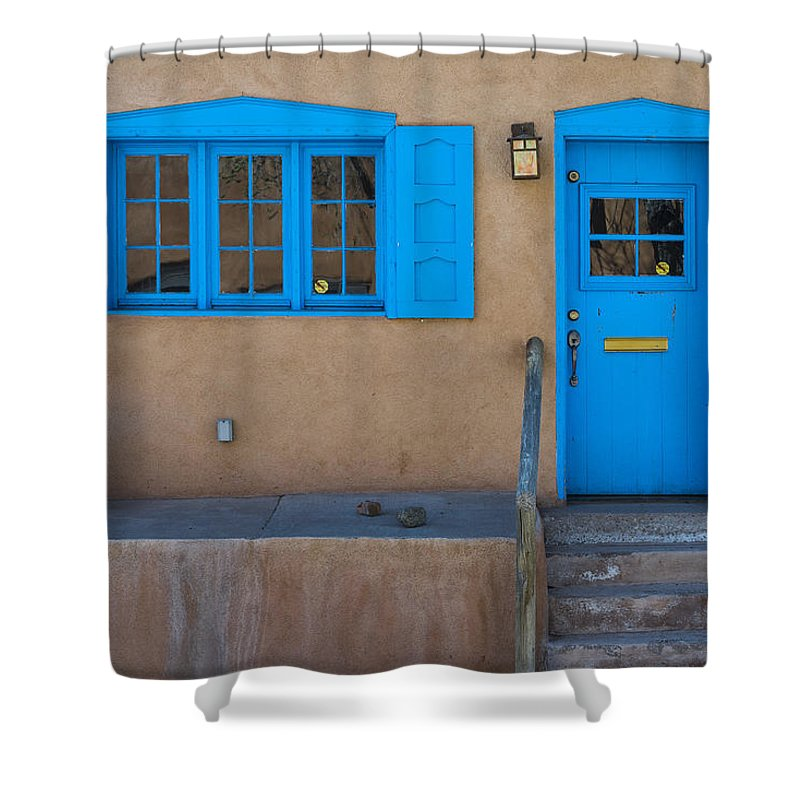 Canyonroad Shower Curtain featuring the photograph Canyon Road by Gary Lengyel