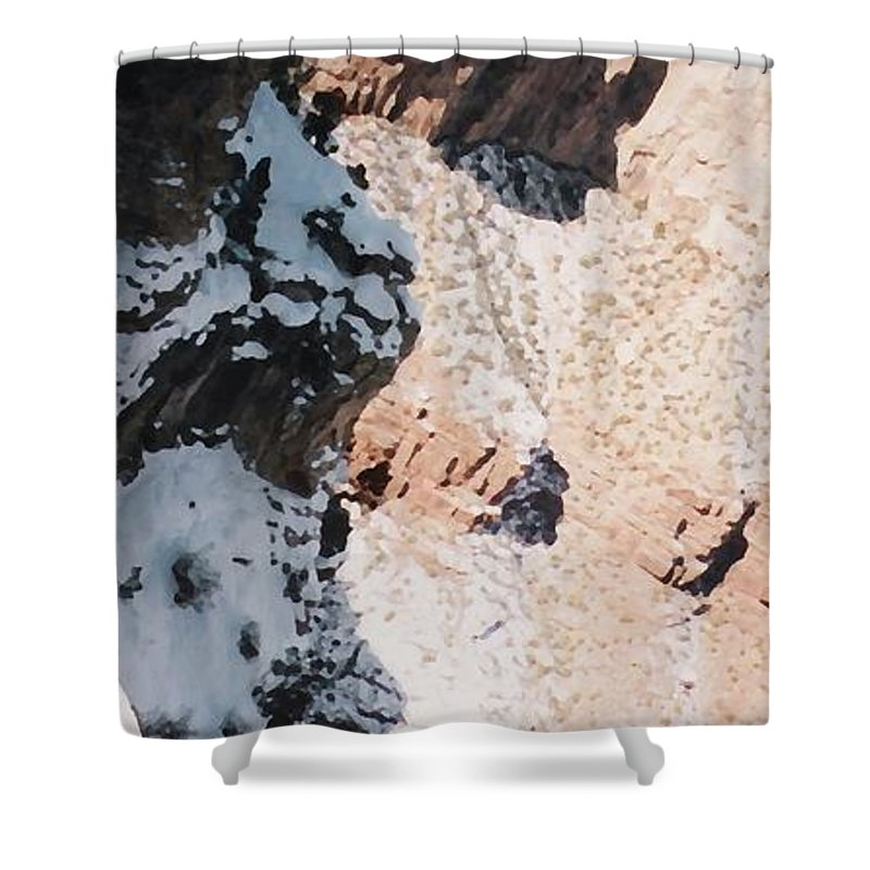 Canyon Shower Curtain featuring the photograph Canyon Side by Pharris Art