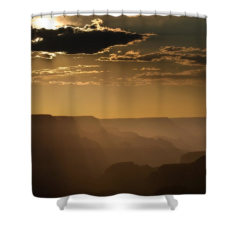 Arizona Shower Curtain featuring the photograph Canyon Strata by Steve Gadomski