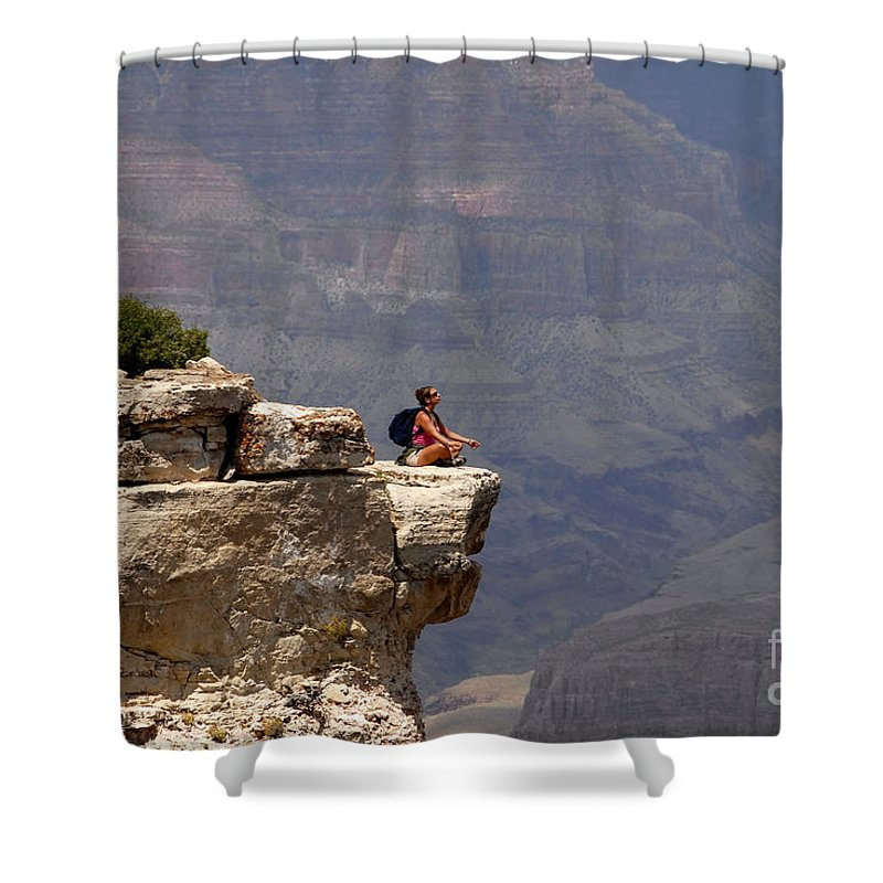 Grand Canyon National Park Arizona Shower Curtain featuring the photograph Canyon Thoughts by David Lee Thompson