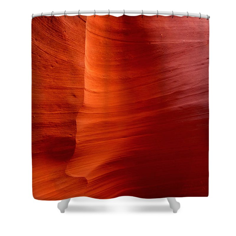 Antelope Canyon Shower Curtain featuring the photograph Canyon Wall by Chris Fleming