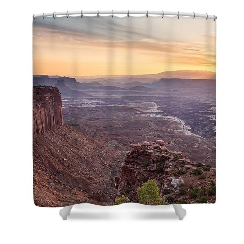 Canyonlands Shower Curtain featuring the photograph Canyonlands Sunrise by James BO Insogna