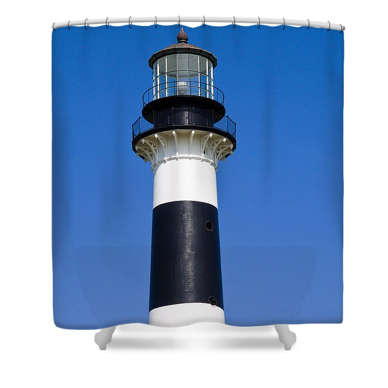 Cape; Canaveral; Light; Lighthouse; Florida; Keeper; Navigation; Usa; Atlantic; Kennedy; Space; Beac Shower Curtain featuring the photograph Cape Canaveral Lighthouse On The East Coast Of Florida by Allan Hughes