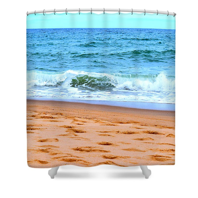 Cape Cod Shower Curtain featuring the photograph Cape Cod Beach Day by Kate Arsenault
