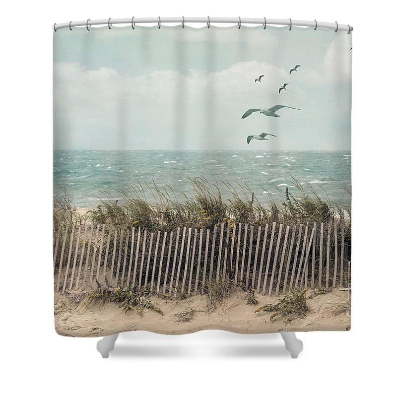 Cape Cod Beach Scene Shower Curtain For Sale By Juli Scalzi