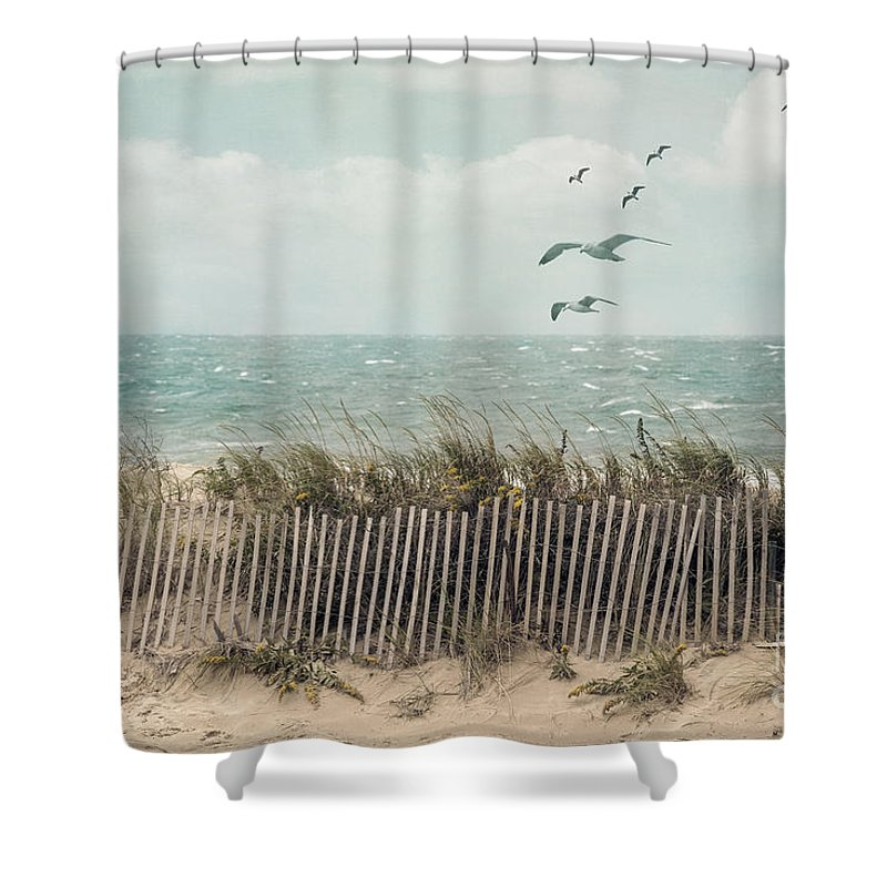 Cape Cod Beach Scene Shower Curtain For Sale By Juli Scalzi
