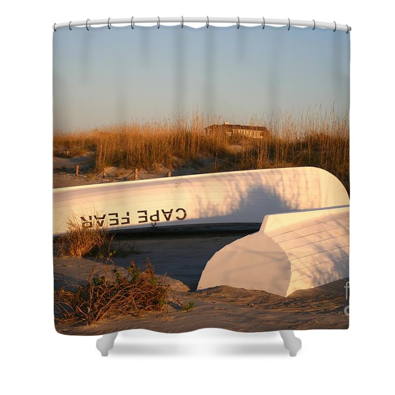 Boats Shower Curtain featuring the photograph Cape Fear Boats by Nadine Rippelmeyer